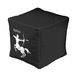 Sagittarius Zodiac Cube Pouffe