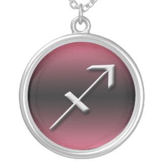 Sagittarius Zodiac Dark Gradient Pink Necklace
