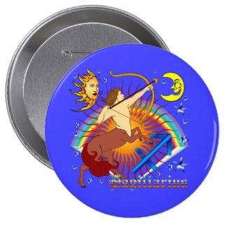Sagittarius-Zodiac-Design-V-1 10 Cm Round Badge
