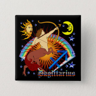 Sagittarius-Zodiac-Design-V-1 15 Cm Square Badge