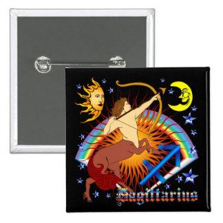 Sagittarius-Zodiac-Design-V-1 15 Cm Square Badge