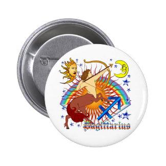 Sagittarius-Zodiac-Design-V-1 6 Cm Round Badge