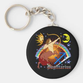 Sagittarius-Zodiac-Design-V-1 Basic Round Button Key Ring