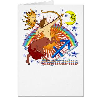 Sagittarius-Zodiac-Design-V-1 Greeting Card