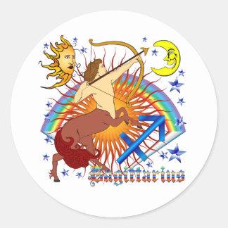 Sagittarius-Zodiac-Design-V-1 Round Sticker