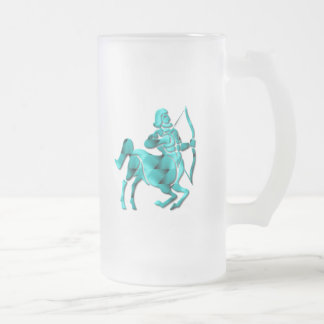 Sagittarius Zodiac Frosted Beer Mug