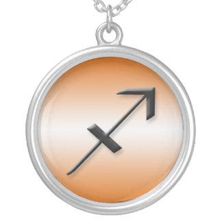 Sagittarius Zodiac Light Gradient Orange Necklace