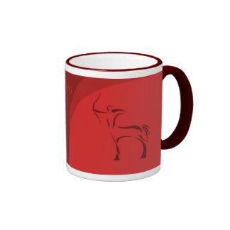 Sagittarius zodiac mug (maroon)