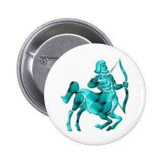 Sagittarius Zodiac Round Pin