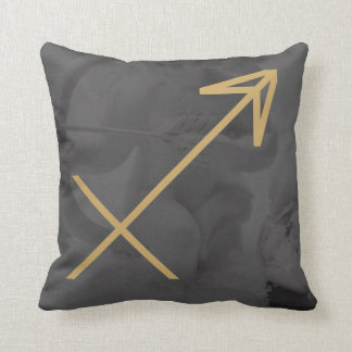 Sagittarius Zodiac Sign | Custom Background Throw Pillow