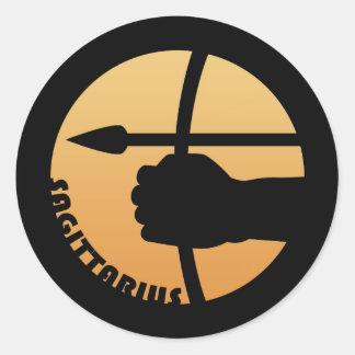Sagittarius Zodiac Sign Round Sticker