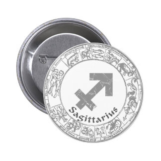 Sagittarius Zodiac sign vintage Pinback Button