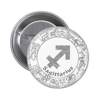 Sagittarius Zodiac sign vintage Pinback Buttons
