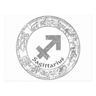 Sagittarius Zodiac sign vintage Post Card