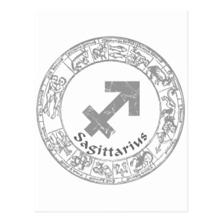 Sagittarius Zodiac sign vintage Postcard