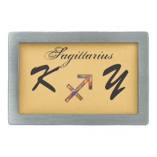 Sagittarius Zodiac Symbol Element by K Yoncich Belt Buckles