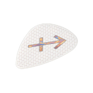 Sagittarius Zodiac Symbol Element Polycarbonate Guitar Pick