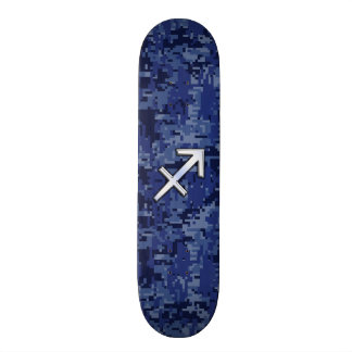 Sagittarius Zodiac Symbol NavyDigital Camouflage 21.6 Cm Old School Skateboard Deck