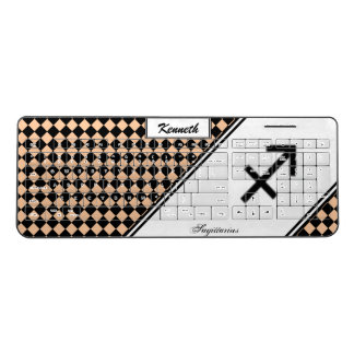 Sagittarius Zodiac Symbol Standard by K Yoncich Wireless Keyboard