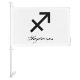 Sagittarius Zodiac Symbol Standard Car Flag