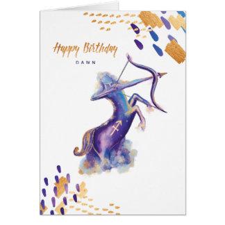 Sagittarius Zodiac Watercolour Artistry Card