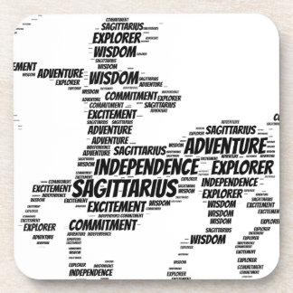 Sagitttarius Astrology Zodiac Sign Word Cloud Coasters