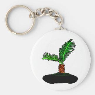Sago Palm Bonsai Type Graphic Image tree Basic Round Button Key Ring