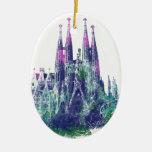 Sagrada Familia Barcelona Ceramic Oval Decoration