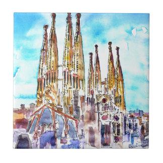 Sagrada Familia Barcelona Tile
