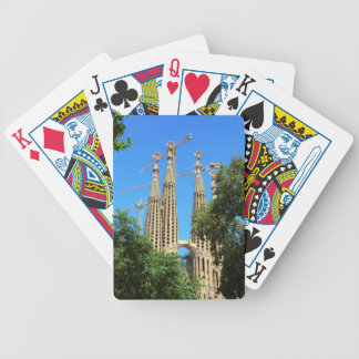 Sagrada Familia church in Barcelona, Spain Bicycle Playing Cards
