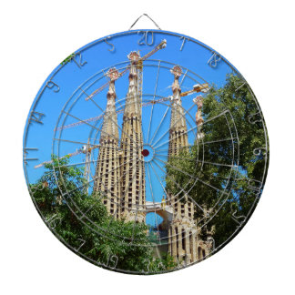 Sagrada Familia church in Barcelona, Spain Dart Boards