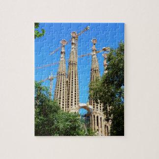 Sagrada Familia church in Barcelona, Spain Puzzle