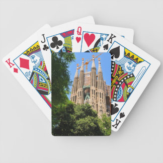 Sagrada Familia in Barcelona, Spain Bicycle Playing Cards