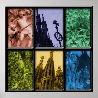 Sagrada Familia Montage Poster