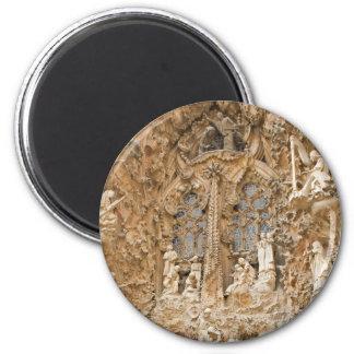 Sagrada Familia Sculptures 6 Cm Round Magnet