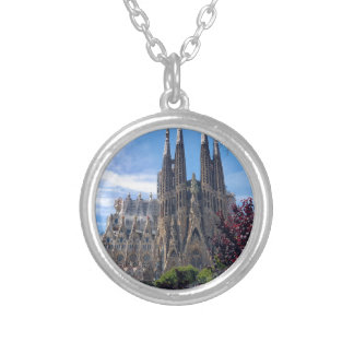 Sagrada Família Silver Plated Necklace
