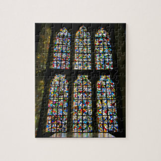 Sagrada Familia Stained Glass Barcelona Photograph Puzzle