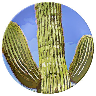 Saguaro Arms Cartoon Decorative Plate Porcelain Plates