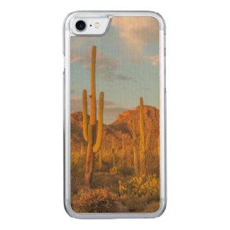 Saguaro cactus at sunset, Arizona Carved iPhone 7 Case