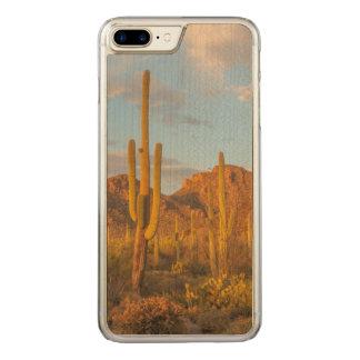 Saguaro cactus at sunset, Arizona Carved iPhone 7 Plus Case