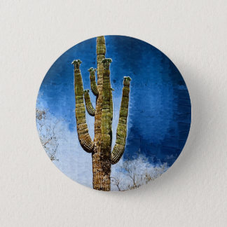 Saguaro Cactus painting 6 Cm Round Badge