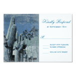 "Saguaro Cactus Palm Tree Arizona Wedding RSVP Card 3.5"" X 5"" Invitation Card"