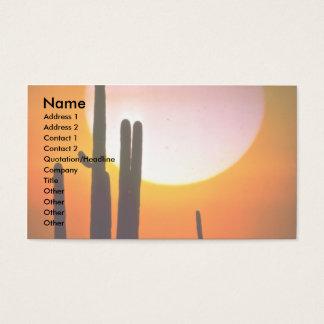 Saguaro cactus, Sonoran Desert, U.S.A. Desert Business Card