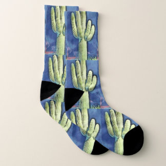 Saguaro in Cartoon Unisex Socks 1
