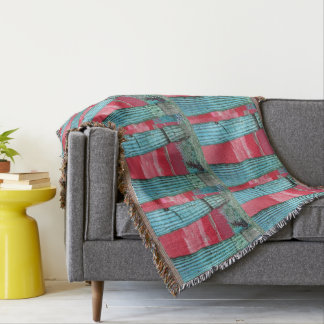 Saguaro Pillar - Red Sky & Turquoise Custom Throw