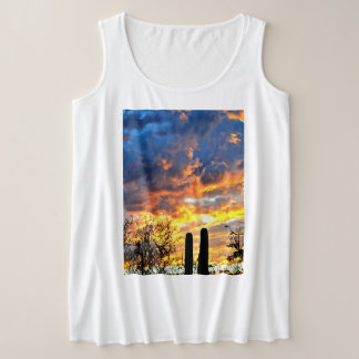 Saguaro Sky Women's Plus Size Tank Top