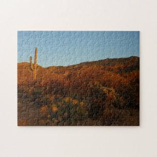 Saguaro Sunset I Arizona Desert Landscape Jigsaw Puzzle