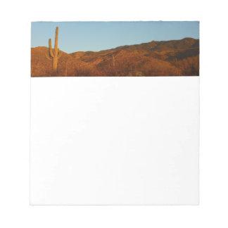 Saguaro Sunset I Arizona Desert Landscape Notepads