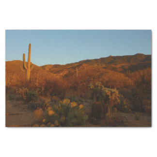 Saguaro Sunset I Arizona Desert Landscape Tissue Paper