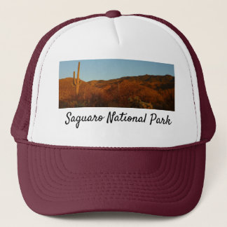 Saguaro Sunset I Arizona Desert Landscape Trucker Hat